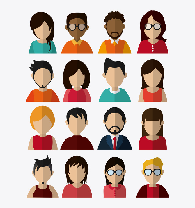avatars of a diverse group of people