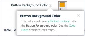 screenshot of button contrast settings