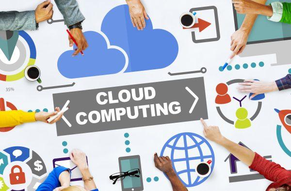 Communications Cloud Computing Concept