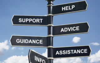 sign support advice guidance assistance