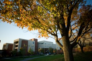 Northampton Bethlehem campus amid Fall foliage