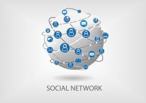 illustration depicting a social network