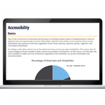 laptop with a screenshot from the accessibility course
